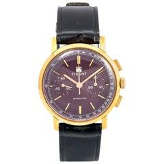 Tissot Gold Plated Stadium Chronograph Wristwatch, circa 1960