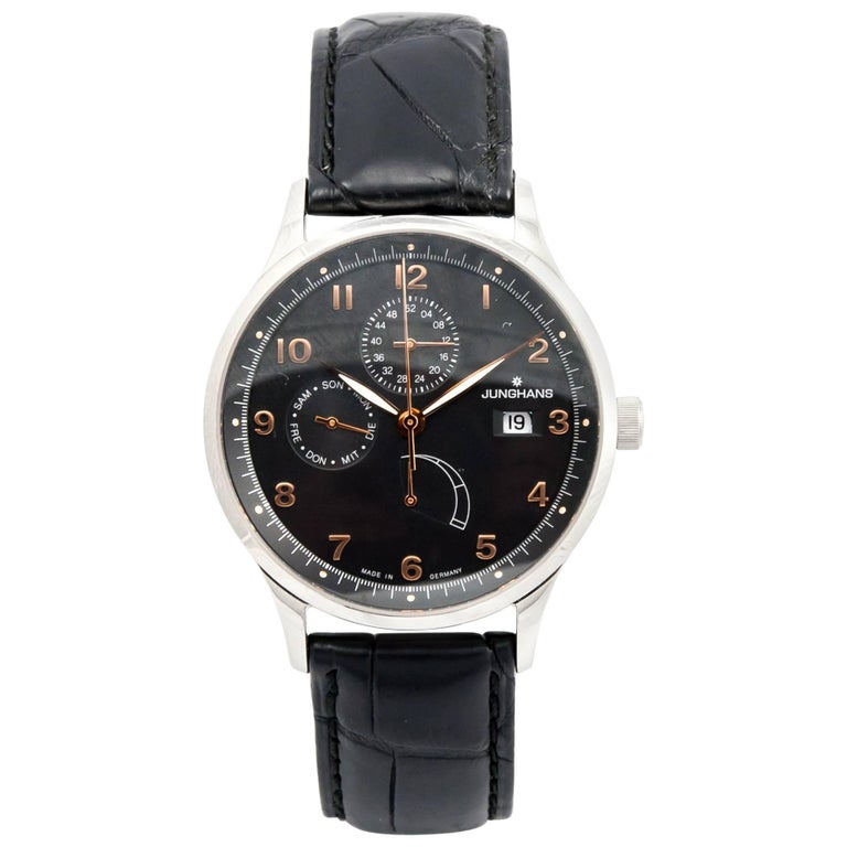Junghans stainless Steel Agenda with Complications Automatic Wristwatch  For Sale