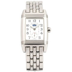 Jaeger LeCoultre Ladies stainless Steel Reverso Duoface Mechanical Wristwatch