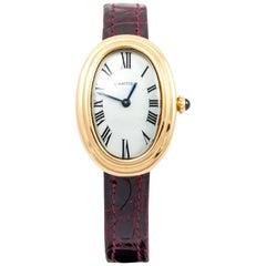 Cartier Yellow Gold Petite Model Bathtub Wristwatch