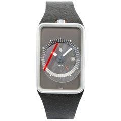 LIP Roger Talon Stainless Steel Rectangular Electro-mechanical Wristwatch, 1976