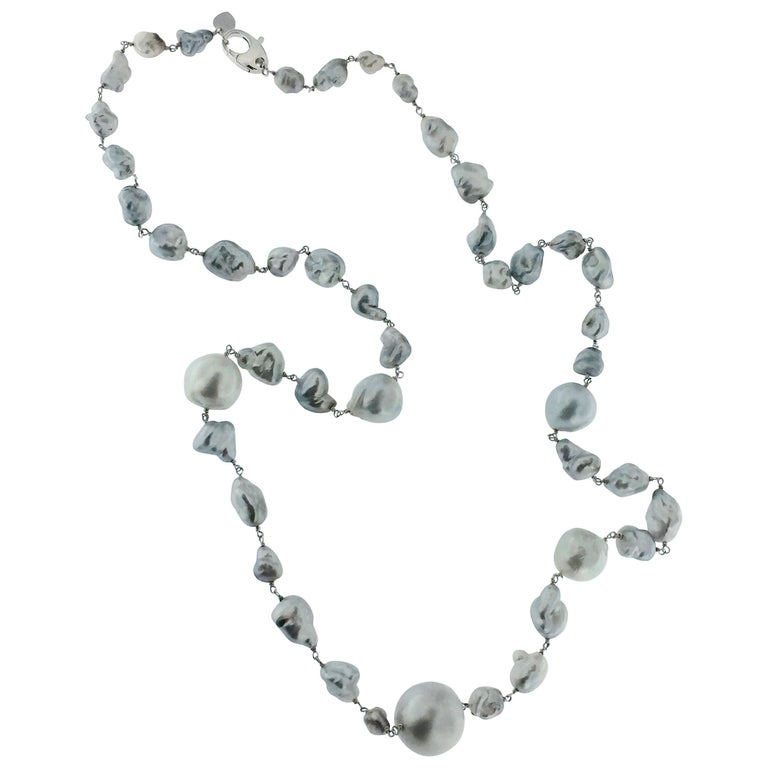 Jona Baroque South Sea Pearl Gold Necklace For Sale