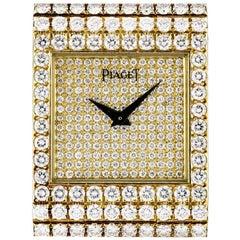 Piaget Yellow Gold Diamond Set Polo Fully Loaded Wristwatch Ref 7131C626