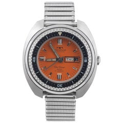 Technos Stainless steel Skydiver Orange Dial Automatic wristwatch ref 10709