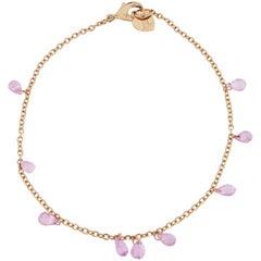 Jona Pink Sapphire Gold Bracelet