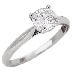 Cartier GIA Certified Diamond Platinum Engagement Ring