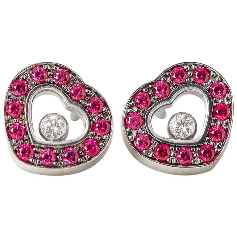 Chopard Ruby Happy Diamonds Earrings