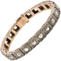 Victorian 10.0 Carat Rose Cut Diamond Antique Bracelet