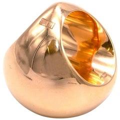 Baenteli 18 Karat Gold Sphere Ring
