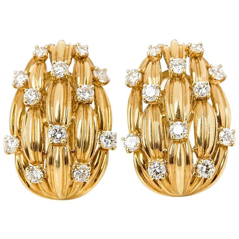 Tiffany & Co. Vintage Diamond Earrings