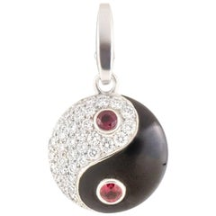 Cartier Diamond, Ruby and Enamel Ying Yang Charm