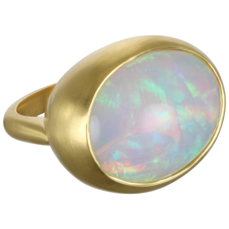 Faye Kim Ethiopian Opal Gold Ring For Sale at 1stdibs
