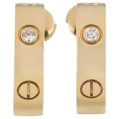 Cartier Yellow Gold Diamond Love Earrings