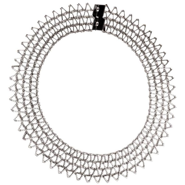 Garavelli Designer Diamond Gold Cleopatra Necklace on sale