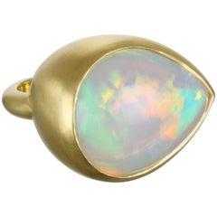 Faye Kim 17.50 Carat Ethiopian Opal Gold Dome Ring