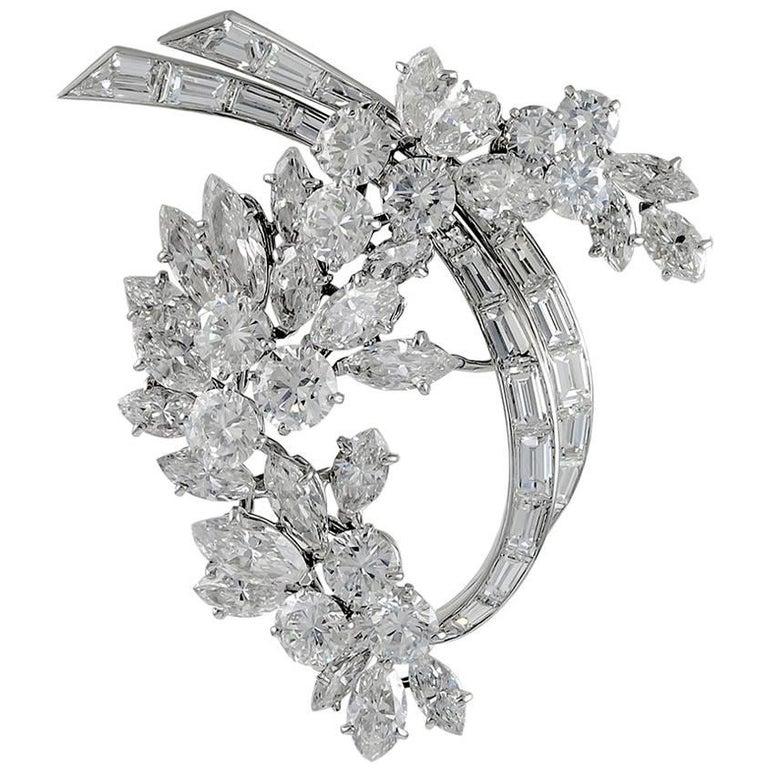 Van Cleef & Arpels Diamond Brooch For Sale