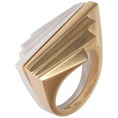 Emer Roberts Solid Gold Art Deco Fan Ring