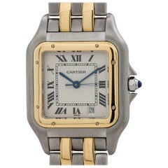 Cartier Yellow Gold Stainless Steel Panther Quartz Wristwatch, circa 1980s