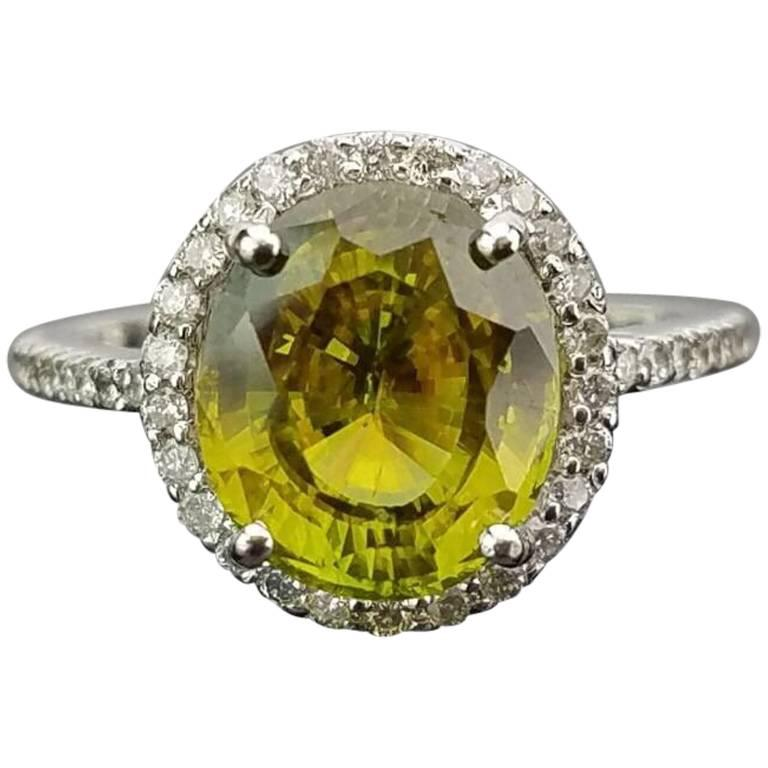 Classic Peridot and Diamond Cocktail Ring