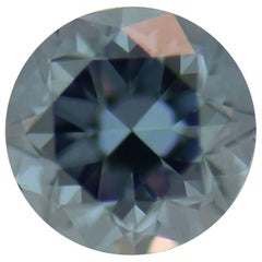 GIA Certified 0.44 Carat Fancy Deep Blue VS2 Round Brilliant Loose Diamond