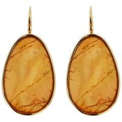 Jona Yellow Jade & Quartz Gold Drop Pendant Earrings