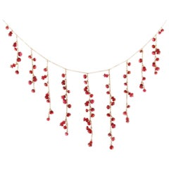 Jona Burmese Red Spinel 18 Karat Rose Gold Necklace