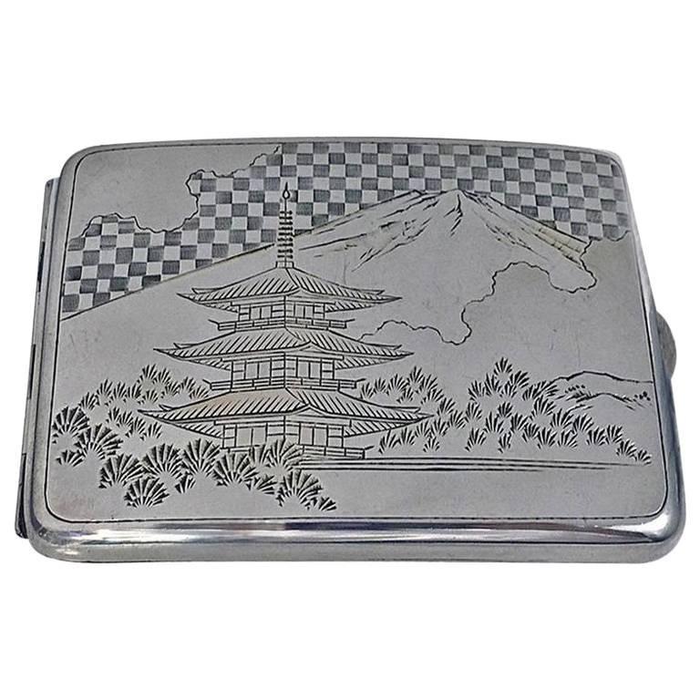 Fine Japanese 950 Silver Box Case, circa 1920