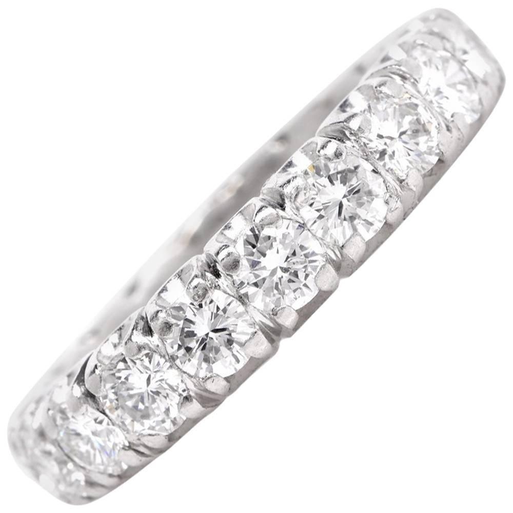 1960s Classic Round Diamond Eternity Band Ring