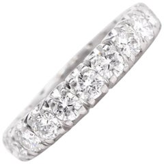 1960s Classic Round Diamond Eternity Band Ring