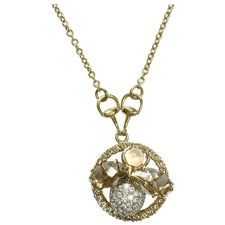 Gucci Flora Horsebit Diamond Necklace