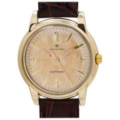 Hamilton Yellow Gold Vintage Screwback Automatic Wristwatch, circa 1950s