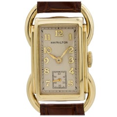 Hamilton yellow gold Bentley wristwatch  circa 1939