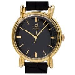Omega yellow gold Oversize Fancy Lug Dress Model wristwatch, circa 1946