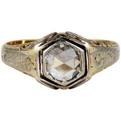 Edwardian 1.70 Carat Diamond Solitaire Gent Ring