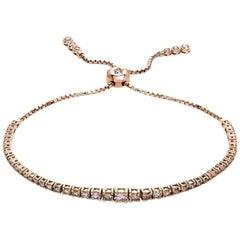Carlos Udozzo 18 Karat Rose Gold Brown Diamonds Bracelet