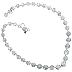 Platinum and Diamond Riviere Necklace