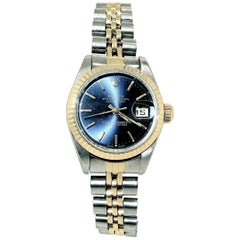 Rolex Ladies yellow gold stainless steel Oyster Perpetual DateJust Wristwatch