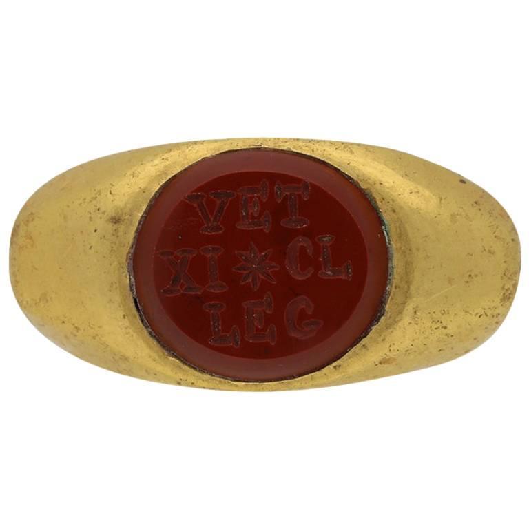 Roman Gold Military Ring, circa 3rd Century AD