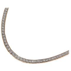 Diamond Rose Gold Collar Necklace