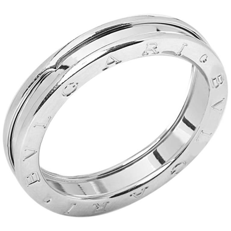 Bulgari White Gold B.Zero 1 Ring