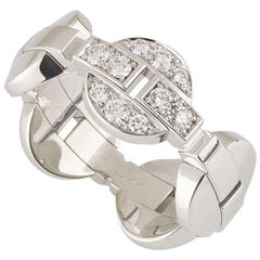 Cartier White Gold Diamond Himalia Ring