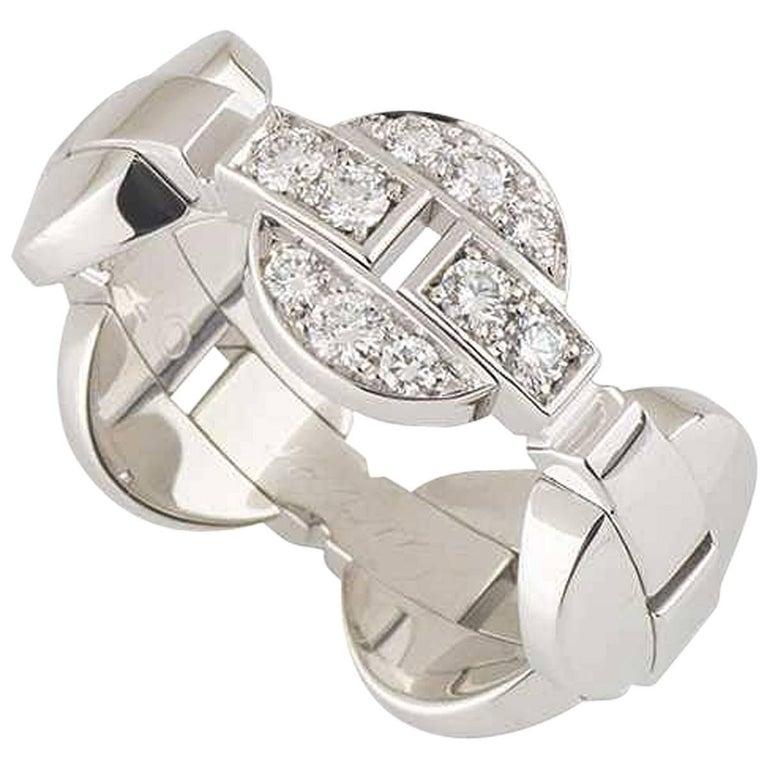 Cartier White Gold Diamond Himalia Ring