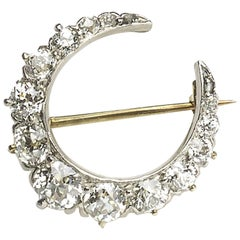 Tiffany & Co. Diamond Crescent Brooch