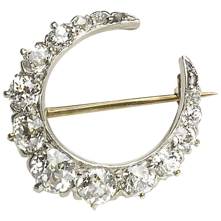 Tiffany & Co. Diamond Crescent Brooch