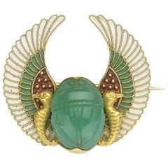 Victorian Scarab Brooch