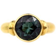 Julius Cohen Green Tourmaline Ring