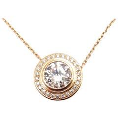 Cartier D'Amour 1.04 Carat Diamond Rose Gold Pendant Necklace