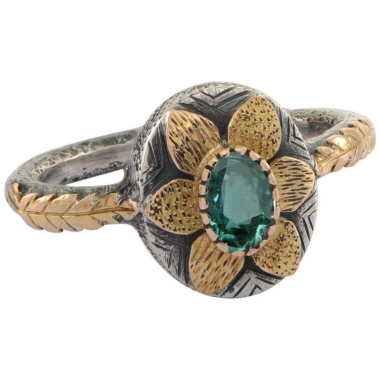 Emma Chapman Emerald Yellow Gold Ring