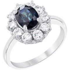 2.74 Carat Sapphire Diamond Ballerina Ring