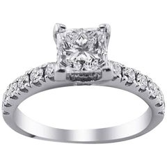 GIA Certified White Gold Solitaire Engagement Ring